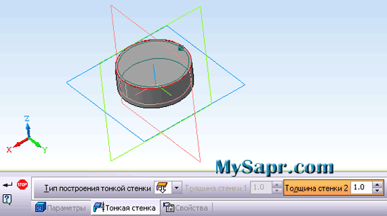 построение гнутых твердотельных моделей в компасе