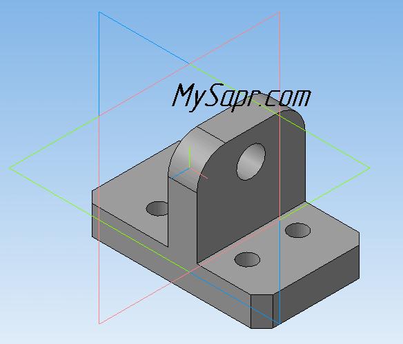 готовая 3d модель кронштейна